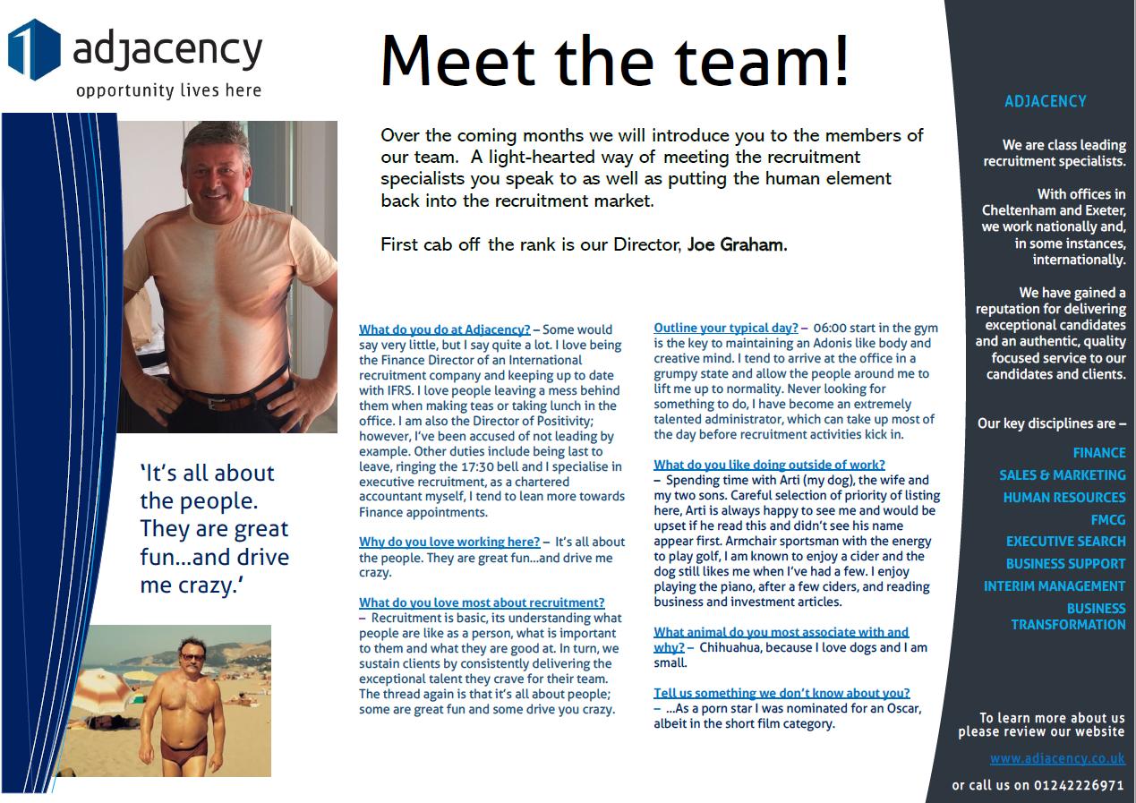 Meet the Team - Joe Graham, Director