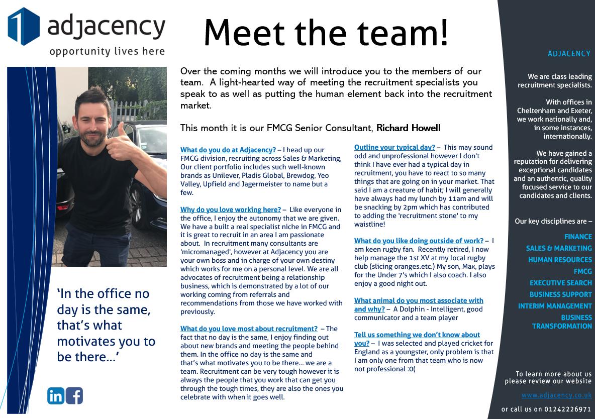 Meet the Team - Richard Howell, Senior Consultant