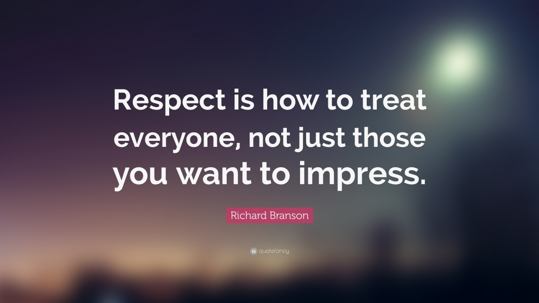 Our Values – 3 of 4 – RESPECT